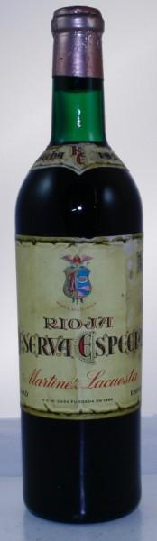 Rioja Reserva Especial, Martinez Lacuesta
