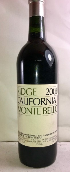 Monte Bello, Ridge Vineyards